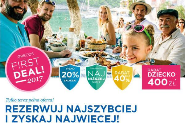 Grecos – wakacje 2017 w promocji First Deal
