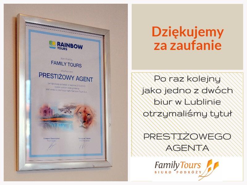 Agent prestiżowy Rainbow Tours w Lublinie