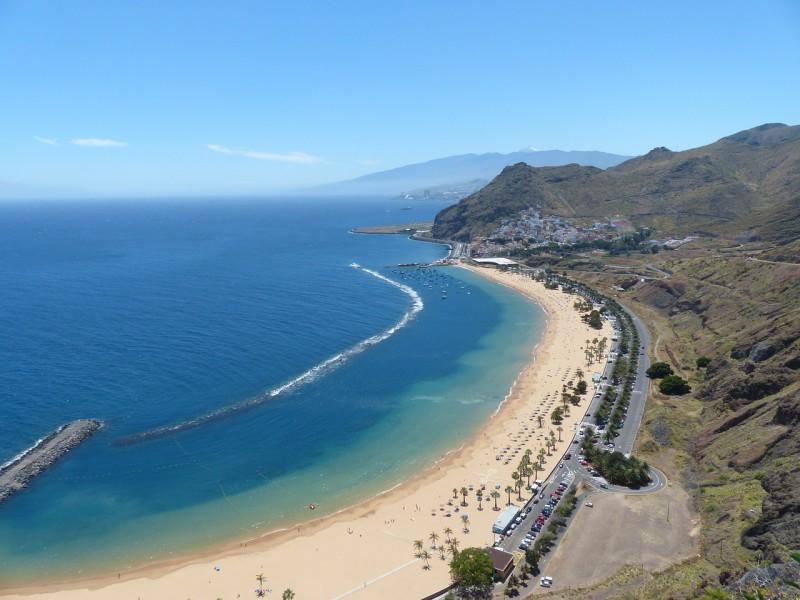 teneryfa co warto zobaczyć Playa de las Teresitas