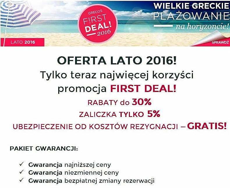 Grecos Holiday Lato 2016 – wakacje z rabatem do 30%