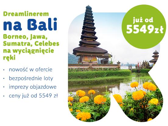 Dreamlinerem na Bali taniej do 40%