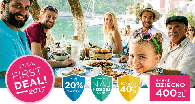 grecos wakacje 2017 w promocji first deal